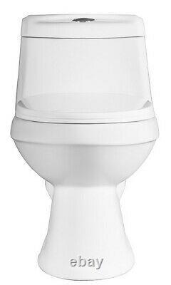 2x Dual Flush One Piece Toilet & 2x Pedestal Bathroom Sink Basin Combo, White