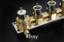 4-way Hot Cold Water Flush Mount Mixer Valve Shower Faucet Shower Faucet