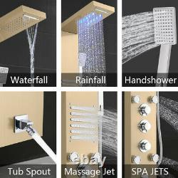 57.6 inch 6 in 1Multi-Function Shower Panel Tower System Stainless Steel