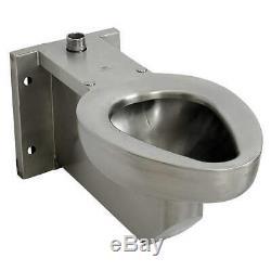 ACORN R2105-T-1 Prison Toilet, SS, Top Spud, Wall Mount