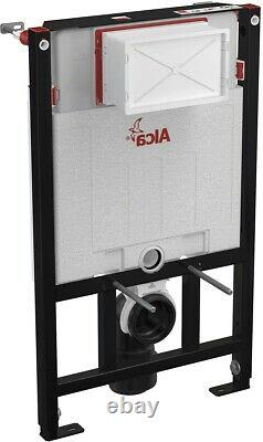 ALCA 0.85M CONCEALED WC TOILET CISTERN FRAME WITH BLACK FLUSH PLATE 2in1 SET