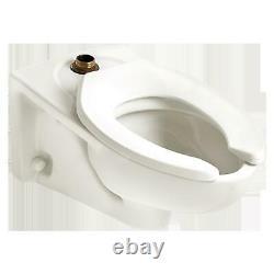 AMERICAN STANDARD1.1 to 1.6 Gpf, Flushometer, Wall Mount, Elongated, Toilet Bowl