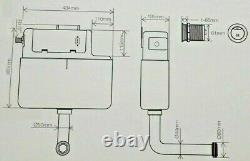 Air Pneumatic Concealed Cistern Back To Wall BTW WC Toilet Dual Flush Button 3/6