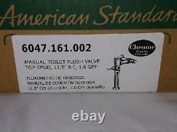 American Standard 1.6 GPF 1.5 Top Spud Manual Toilet Flush Valve Kit Chrome
