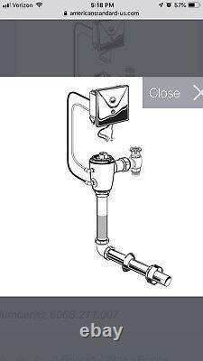 American Standard 6067261.007 Concealed Toilet Flush Valve
