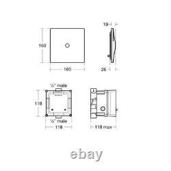 Armitage Shanks Sensorflow 21 electronic urinal flushing valve, mains A4188XJ
