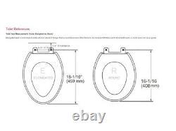 Bio Bidet BB-1000W Supreme Elongated Bidet Toilet Seat, White Round, New