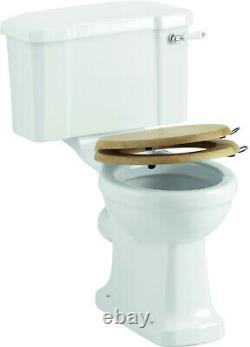Burlington Close Coupled Toilet With Lever Cistern, P5 & C1