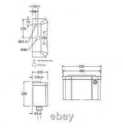 Burlington Low Level Dual Flush Push Button 510mm Cistern, C2