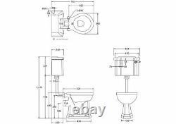 Burlington Low Level Slimline Lever Toilet, P2, C3 & T31 CHR