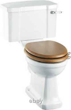 Burlington Regal Raised Height Close Coupled Toilet inc Lever Cistern P12 & C1
