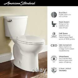Cadet 3 FloWise Tall Height 2-Piece 1.28 GPF Single Flush Elongated Toilet in Wh