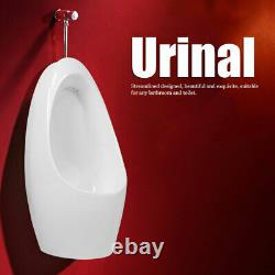Ceramic Urinal White Universal Wall Mounted Funnel Toilet with Flush Valve