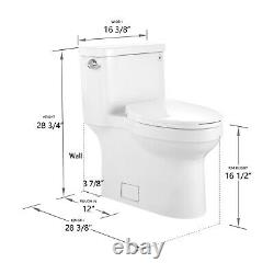 Comfort Height 1.28 GPF One Piece Elongated Toilet with Left-Hand Trip Lever