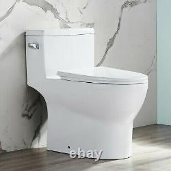 Comfort Height Modern White 1.28GPF One Piece Toilet Soft Closing Seat Included