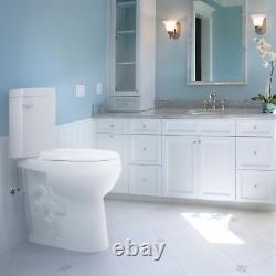 Convenient Height 20 in. Extra Tall Toilet. Dual flush. Slow-close seat included