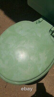 Crane 1950s Vintage Green (Jade) Oxford Toilet No Lid #5100