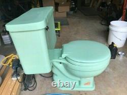 Crane 1954 Vintage Mint Green (Pale Jade) Oxford Toilet good condition