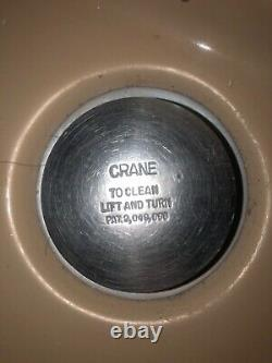 Crane Porcelain Vintage Drexel Toilet & Criterion Sink 1950s