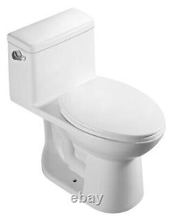 DeVille 449S ADA Elongated One Piece Toilet with Soft Close Seat, Comfort Height