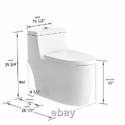 DeerValley Dual-Flush Elongated One-Piece Bathroom Toilet With Soft Closing Seat