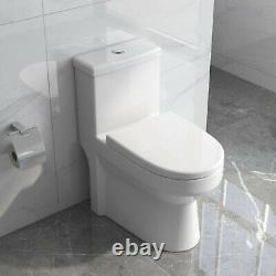DeerValley Mini Compact Dual Flush One Piece Elongated Toilet For Small Bathroom
