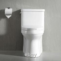 DeerValley Toilet Comfort Height 1.28GPF Water Saving One Piece Elongated Toilet