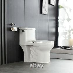 DeerValley White Ceramic 1.28 GPF Elongated One-Piece Toilet Seat Included