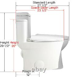 DeerValley White Ceramic Modern One Piece Elongated Toilet 1.28GPF Seat Included