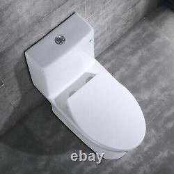 DeerValley White Comfort Height Dual Flush Elongated One Piece Toilet with Seat