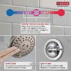 Delta Ashlyn Matte Black 1-Handle Bathtub and Shower Faucet with Valve tub mount
