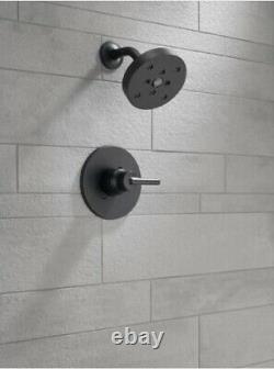 Delta T14259-BL Trinsic 1-Handle Shower Faucet Trim Kit withH2Okinetic Matte Black