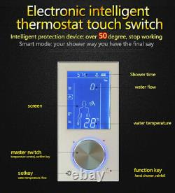 Digital Display Thermostat Flush Mount Mixer Valve Shower Faucet Shower Faucet