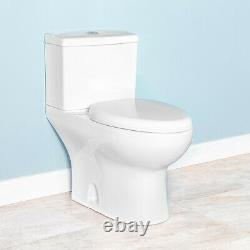 Fiore 43650D Elongated Dual Flush Skirted Two-Piece Toilet with Soft Close Seat