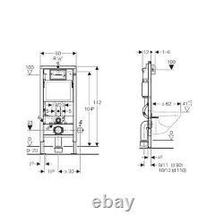 Geberit Duofix 1.12m WC Toilet Frame Delta Cistern Wall Brackets WC Bend Delta50