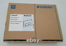 Geberit Kappa50 Dual Flush Plate, Gloss Chrome