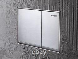 Geberit Omega 60 115.081. GH. 1 Zinc Dual Flush Plate Matt Brushed Chrome