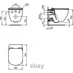Geberit Up720 +sigma Plate+ Ideal Standard Wall Hung Wc Tesi Toilet+soft CL Seat