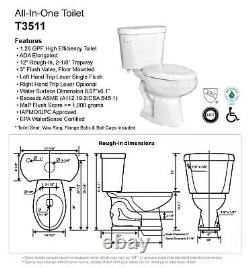 Gele 4622 ADA Elongated Two Piece Toilet with Slow Close Seat Cover, Chair Height
