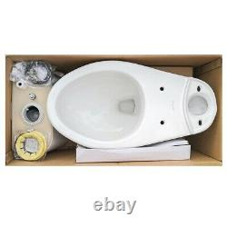 Gele 4624 Standard Height Round Front Two Piece Toilet with Slow Close Seat Cover