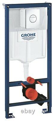 Grohe Concealed Wc Toilet Cistern Frame With Nova Chrome Flush Plate 3in1 Set