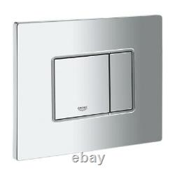 Grohe Concealed Wc Toilet Cistern Frame With Skate Chrome Flush Plate 3in1 Set