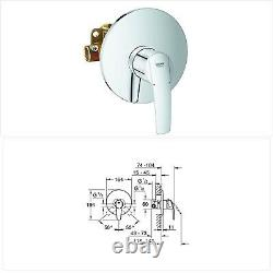 Grohe Start Bath Shower Mixer Tap with Flush-Mounted Body 1 UK SELLER