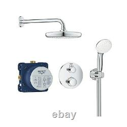Grohe Tempesta 210 Concealed Thermostatic Mixer Shower with Ceiling Shower Head