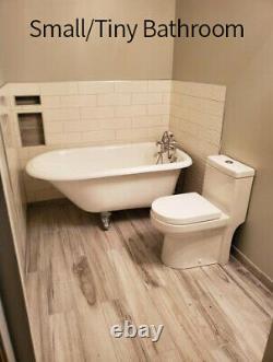 HOROW Ceramic One Piece Small NIB Dual Flush Small Toilet with Soft Closing Seat