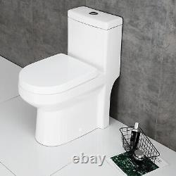 HOROW One Piece Toilet NIB Compact Bathroom Mini Dual Flush Commode Water Closet