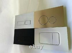 In Wall Concealed Cistern Toilet Water Tank with matte chrome Black Gold buttons