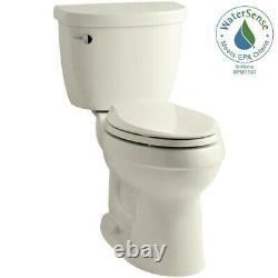 KOHLER 2 Piece 1.28 GPF Single Flush High Efficiency Elongated Toilet Biscuit