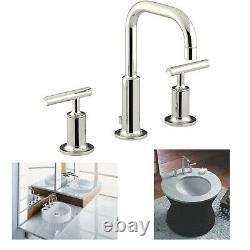 KOHLER Purist K-14406-4-SN Widespread Bathroom Sink Faucet Metal Drain Assembly