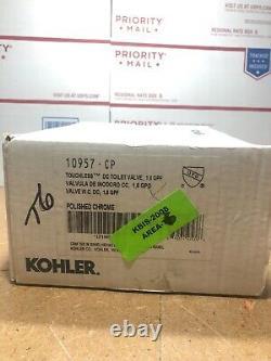 Kohler K-10957-CP 1.6 GPF Touchless DC Toilet Flushometer Polished Chrome #JB6